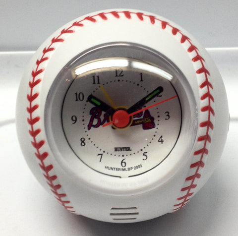 Atlanta Braves Baseball Travel Alarm Clock - Sports Nut Emporium