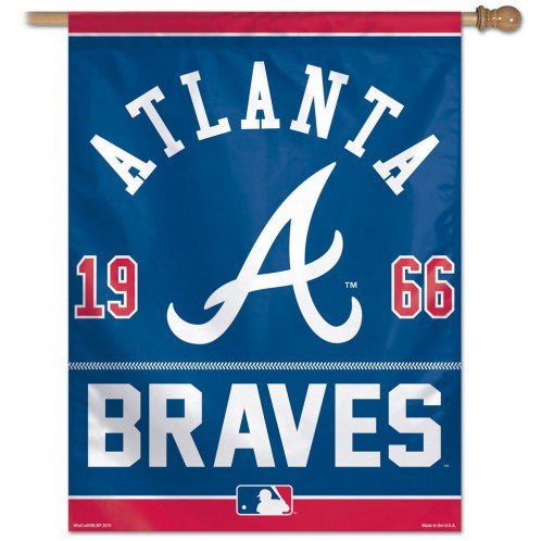 Atlanta Braves year of Inception Vertical Flag - Sports Nut Emporium