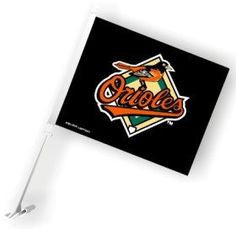 Baltimore Orioles MLB Car Flag - Sports Nut Emporium