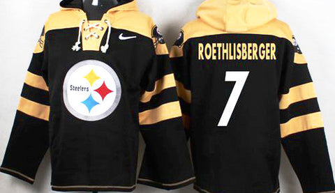 Ben Roethlisberger Black Player Pullover NFL Hoodie - Sports Nut Emporium