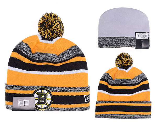 Boston Bruins Logo Stitched Knit Beanies-13 - Sports Nut Emporium