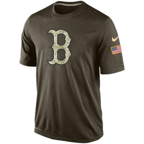 Boston Red Sox Men's  Nike Anthracite Salute to Service Performance Raglan T-Shirt - Sports Nut Emporium