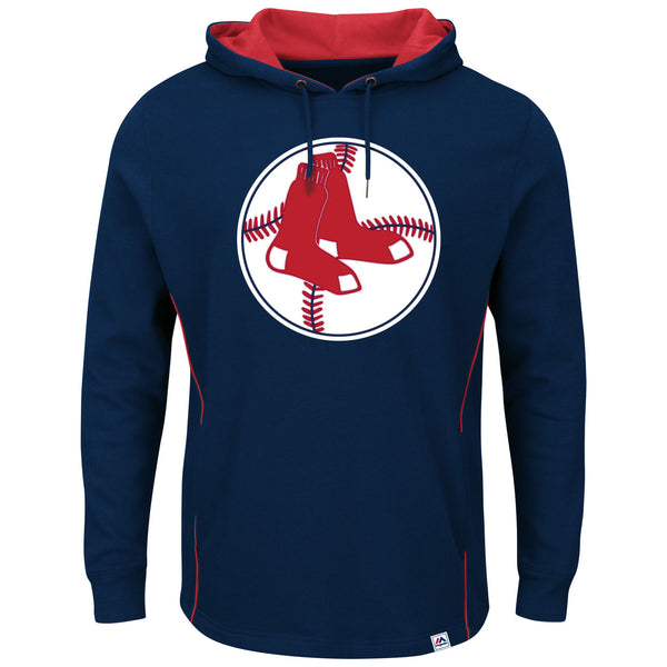 Boston Red Sox Majestic Cooperstown  Pullover Hoodie - Navy - Sports Nut Emporium