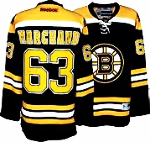 Brad Marchand #63 Boston Bruins  black stitched NHL hockey  jersey - Sports Nut Emporium