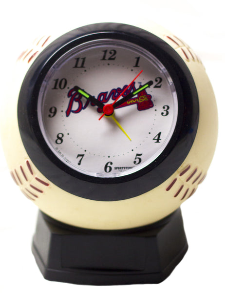 Atlanta Braves MLB Baseball Alarm Clcock - Sports Nut Emporium