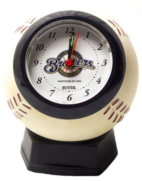 Milwaukee Brewers MLB baseball alarm clock - Sports Nut Emporium