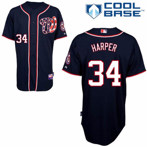 Bryce Harper washington Nationals Blue Jersey - Sports Nut Emporium