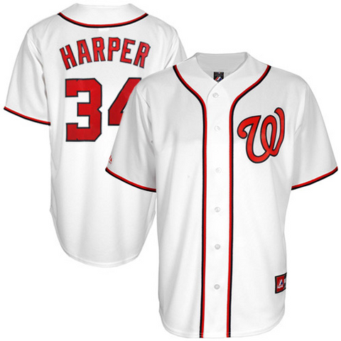 Bryce harper Washington Nationals White Jersey - Sports Nut Emporium