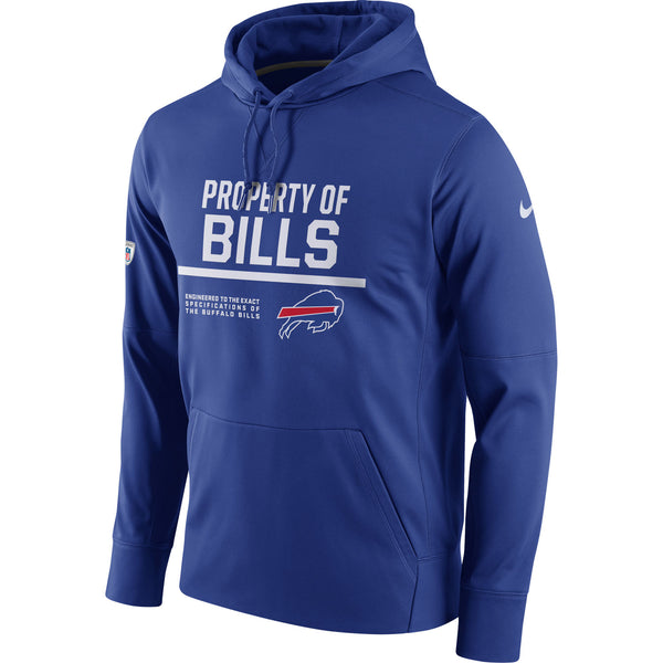 Buffalo Bills Nike Royal Circuit Property Of Performance Pullover Hoodie - Sports Nut Emporium