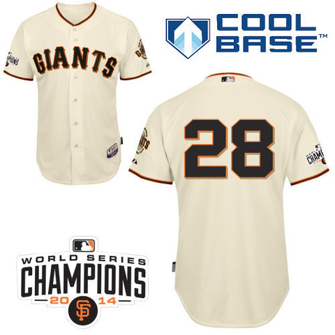 Buster Posey Cream San Fransisco Giants Cool Base Jersey - Sports Nut Emporium