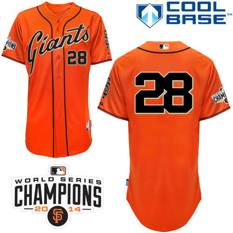 Buster Posey Orange San Fransisco Giants Cool Base  Jeresy - Sports Nut Emporium