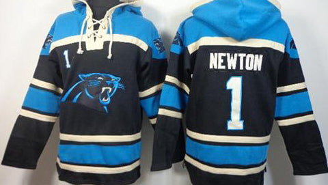 Cam Newton Sawyer Blue Carolina Panthers pullover Hoodie - Sports Nut Emporium