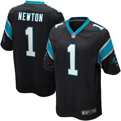 Cam Newton Nike Elite Sewn  NFL football jersey (black) - Sports Nut Emporium