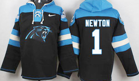 Cam Newton Black Carolina Panthers Pullover Hoodie - Sports Nut Emporium