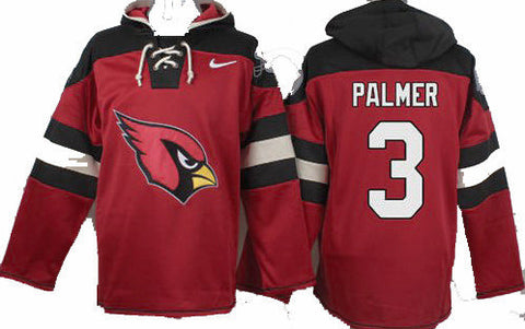 Carson Palmer Red Player Pullover NFL Hoodie - Sports Nut Emporium