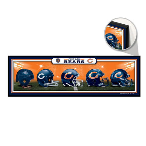Chicago Bears Helmet Evolution sign - Sports Nut Emporium