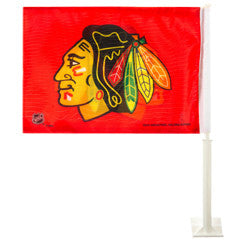 Chicago Blackhawks Car Flag - Sports Nut Emporium