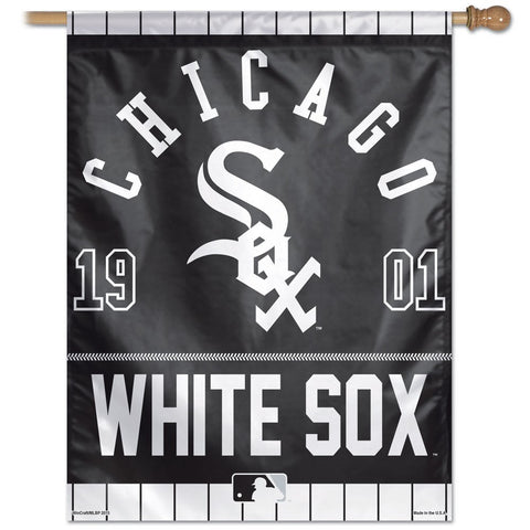 Chicago White Sox Year Of Inception Vertical Flag - Sports Nut Emporium