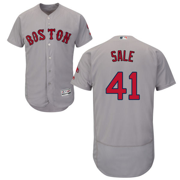 Chris Sale Boston Red Sox Major League baseball Grey Jersey - Sports Nut Emporium