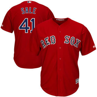 Chris Sale Men's Boston Red Sox  Majestic Red Alternate Cool Base Jersey - Sports Nut Emporium
