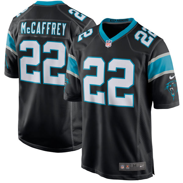 Christian McCaffrey Men's Carolina Panthers Nike Black 2017 Draft Pick Game Jersey - Sports Nut Emporium