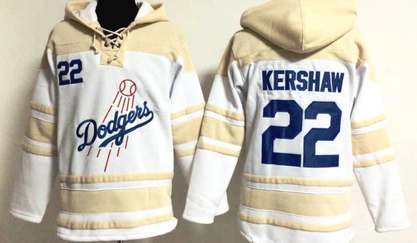 Clayton Kershaw Los Angeles Dodgers pullover hoodie - Sports Nut Emporium