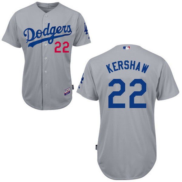 Clayton Kershaw Los Angeles Dodgers Grey Jersey - Sports Nut Emporium