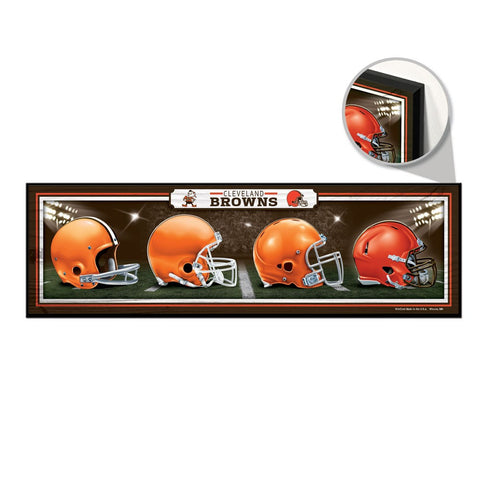 Cleveland browns Helmet Evolution sign - Sports Nut Emporium