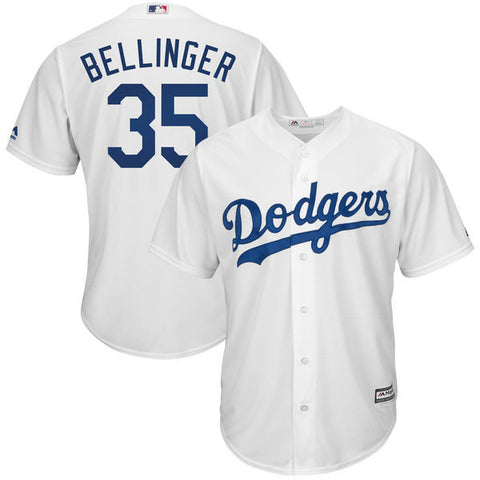 Cody Bellinger Men's Los Angeles Dodgers  Majestic White Cool Base Player Jersey - Sports Nut Emporium