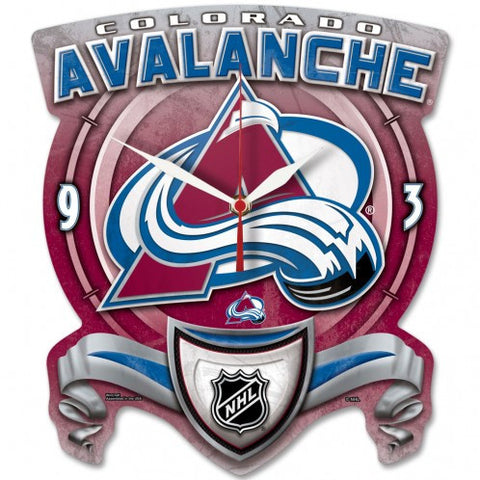Colorado Avalanche High Def. Plaque Style Wall Clock - Sports Nut Emporium