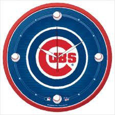 Chicago Cubs wall clock - Sports Nut Emporium