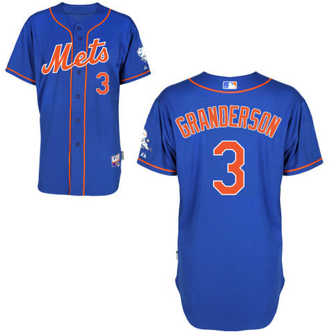 Curtis Granderson New York Mets # 3 Blue Alternate Home Cool Base Stitched MLB Jersey - Sports Nut Emporium