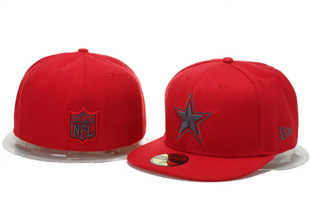 Dallas Cowboys New Era NFL Pop Gray Basic 59 FIFTY Red Cap - Sports Nut Emporium