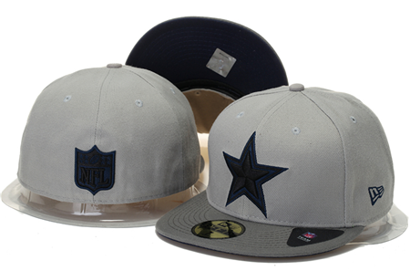 Dallas Cowboys 59 Fifty Fitted Topped up Grey  Denim Hat - Sports Nut Emporium
