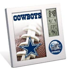 Dallas Cowboys desk clock. - Sports Nut Emporium