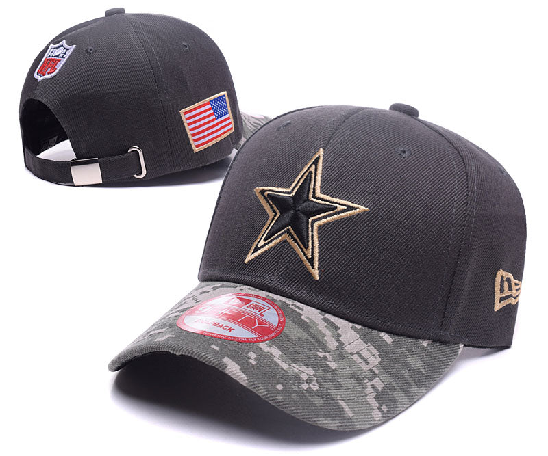 newest 2b8e6 0b5e3 Dallas Cowboys New Era Men's Camo Salute To Service Sideline 39THIRTY  Adjustable Hat