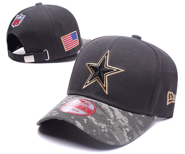 a3f951cd54 Product Image Dallas Cowboys New Era Men s Camo Salute To Service Sideline  39THIRTY Adjustable Hat - Sports Nut