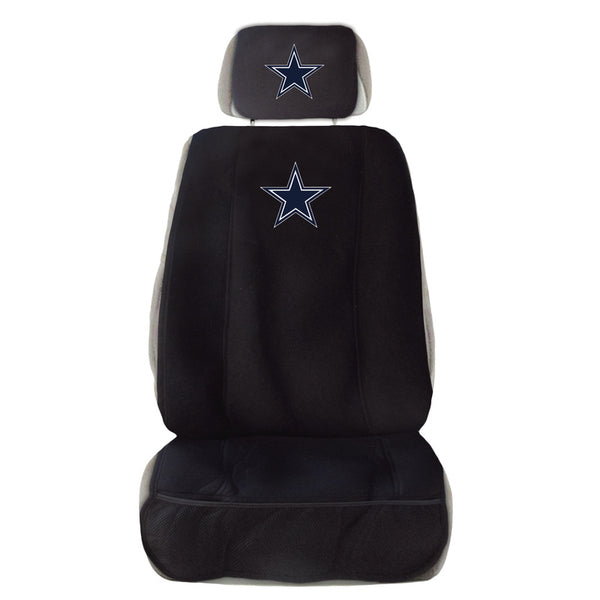 Dallas Cowboys Seat Cover and Head Rest Combination - Sports Nut Emporium