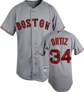 David Ortiz  Boston Red Sox #34 Grey Stitched MLB Jersey - Sports Nut Emporium