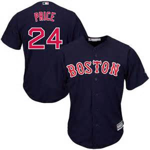 David Price Navy Blue Mens Cool Base Stitched MLB Jersey - Sports Nut Emporium