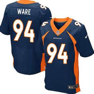 DeMarcus Ware Navy Blue Alternate Men's Stitched NFL Elite Jersey - Sports Nut Emporium