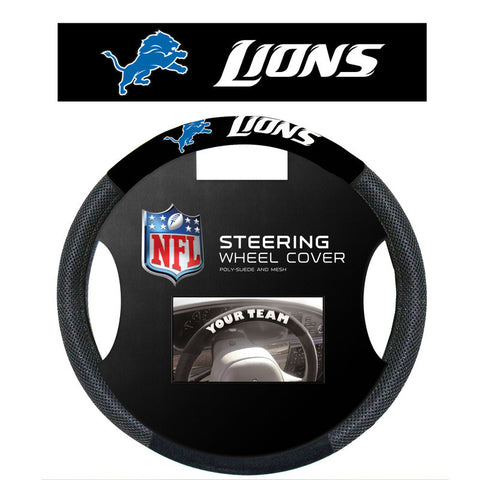 Detroit Lions poly suede Steering Wheel Cover - Sports Nut Emporium