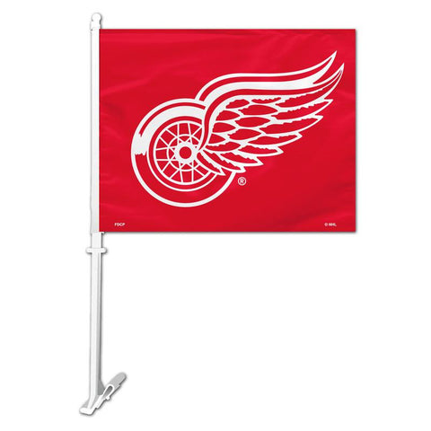 Detroit Red Wing NHL Car Flag - Sports Nut Emporium