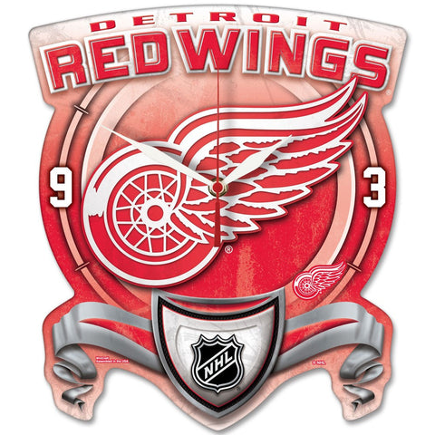 Detroit Red Wings High Def. Plaque Style wall Clock - Sports Nut Emporium