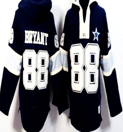 Dez Bryant Navy Blue Player Winning Method Pullover Men's NFL Hoodie - Sports Nut Emporium