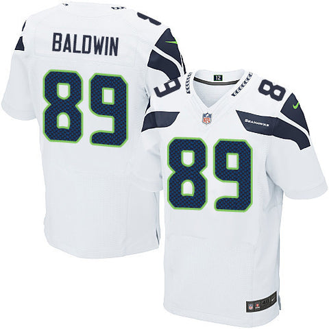 Doug Baldwin #89 Seattle Seahawks Nike Elite football jersey (white) - Sports Nut Emporium