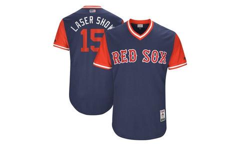 Dustin Pedroia Men's Majestic Navy Boston Red Sox 2017 Players Weekend Team Jersey - Sports Nut Emporium