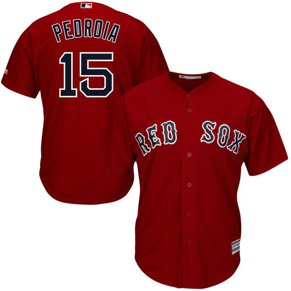 Dustin Pedroia Men's Cool Base  Boston Red Sox  Majestic Scarlet  Jersey - Sports Nut Emporium