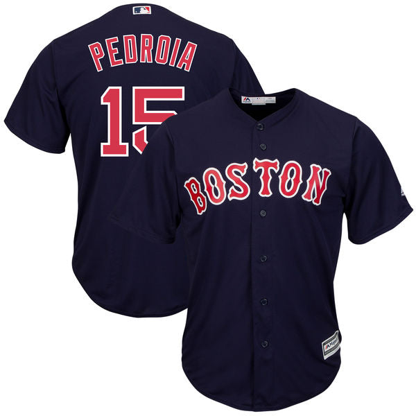 Dustin Pedroia Boston Red Sox Majestic Cool Base  Player Jersey - Navy - Sports Nut Emporium