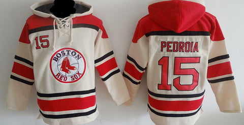 Dustin Pedroia Boston Red Sox Sawyer Pullover Hoodie - Sports Nut Emporium